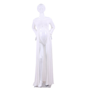 Women Split Front Cotton Off the Shoulder Long Sleeve Maternity Gown Maxi Dress - shopbabyitems