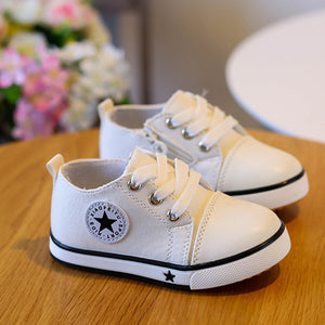 Leisure Soft Sole Anti-Slip Infant Baby Canvas Shoes Toddler Sports Sneakers - shopbabyitems