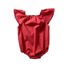 Load image into Gallery viewer, Infant Baby Girl One-Piece Babysuit Solid Color Short Sleeve Romper Jumpsuit - shopbabyitems
