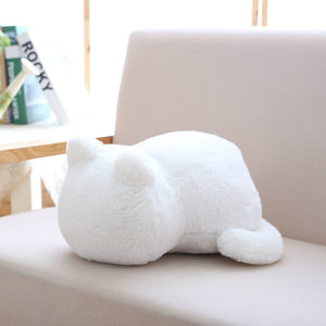 Pure Color Back Cat Plush Doll Fashion Cute Stuffed Animal Simple Plush Toy - shopbabyitems