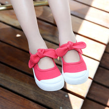 Load image into Gallery viewer, Children Infant Baby Girl Canvas Shoes Bowknot Little Princess Anti-Slip Shoes - shopbabyitems