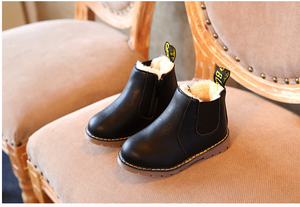 autumn and winter children's shoes short boots boys' leather boots girls Europe and the United States big children's boots single boots - shopbabyitems