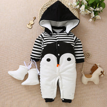 Load image into Gallery viewer, Children cotton baby clothes in the spring and autumn winter warm thick baby Jumpsuit newborn climb clothes clothes Kazakhstan - shopbabyitems