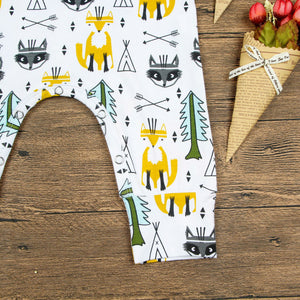 Toddler Baby Boy Girl Kids Fox Tree Romper Summer Sleeveless Jumpsuit Clothes - shopbabyitems