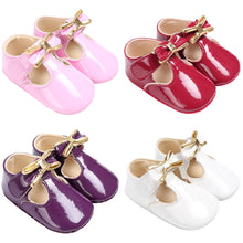 Load image into Gallery viewer, Cute Bowknot Crib Prewalker Baby Girl Faux Leather Princess Anti-Slip Soft Shoes - shopbabyitems
