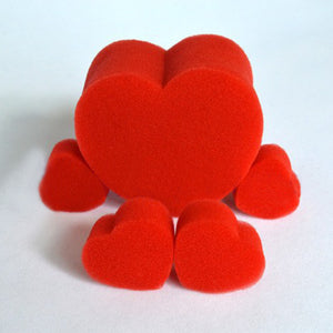 5Pcs/Set Close-Up Magic Street Classical Comedy Trick Soft Red Sponge Heart - shopbabyitems