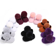 Load image into Gallery viewer, Lovely Infant Toddler Kids Girl Furry Ball Soft Prewalker Princess Baby Shoes - shopbabyitems