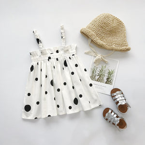 New children's clothing Korean version of the hot printed dot girl dress - shopbabyitems
