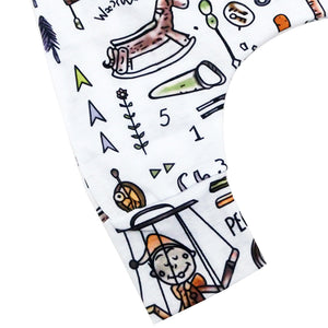 Baby Infant Letters Cartoon Pattern Sleeveless Romper Jumpsuit Hat Outfit Set - shopbabyitems