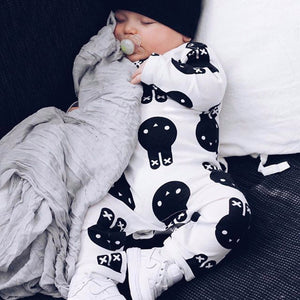 Fashion Infant Baby Girl Boy Rabbit Print Long Sleeve Romper Jumpsuit Warm Gift - shopbabyitems