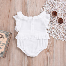 Load image into Gallery viewer, Newborn Baby Girls Summer Sleeveless Ruffles Romper Jumpsuit Bodysuit Clothes - shopbabyitems