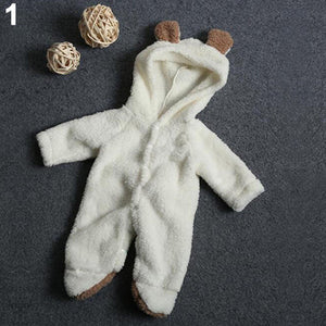 Newborn Baby Infant Boy Girl Fashion Romper Hooded Jumpsuit Bodysuit Outfits Clothes - shopbabyitems
