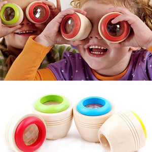 Children Wooden Magic Kaleidoscope Learning Puzzle Educational Toy Xmas Gift - shopbabyitems