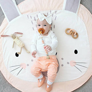 90CM Baby Play Mat Pad Round Carpet Rugs - shopbabyitems