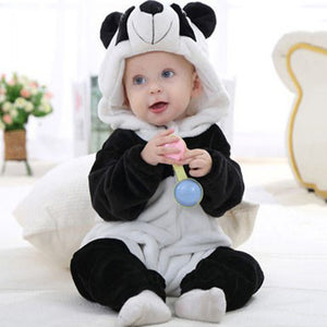 Baby Boy Girl Cute Panda Costume Newborn Infant Toddler Jumpsuit Romper Warm - shopbabyitems