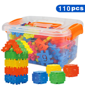 110pcs/1set DIY Lepin Building Blocks Baby Boys And Girls 3D Blocks Funny Educational Mosaic Toys for Children Kids Block Toys - shopbabyitems
