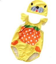 Load image into Gallery viewer, Baby child pineapple one-piece swimsuit - shopbabyitems