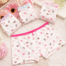 Load image into Gallery viewer, Lovely Cartoon Animals Elephant Printed Pure Cotton Girls Baby Kids Underpants - shopbabyitems