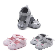 Load image into Gallery viewer, Lovely Cat Mouse Embroidery Magic Tape Anti-Slip Cotton Infant Baby Girl Shoes - shopbabyitems