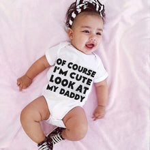Load image into Gallery viewer, Newborn Infant Baby Girl Boys Romper Letter Print Short Sleeve Bodysuit Outfit - shopbabyitems