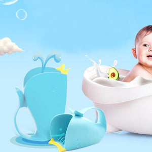 Baby Bath Cap Kids Washing Hair Shampoo Cartoon Whale Cup Children Shower Spoons - shopbabyitems