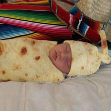 Load image into Gallery viewer, Burrito Baby Blanket Flour Tortilla Swaddle Blanket - shopbabyitems