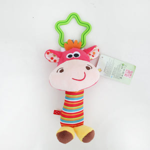 Baby Toys Rattle My First Tinkle Trio Hand Bell Multifunctional Plush Toy - shopbabyitems