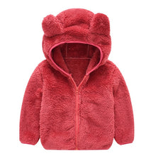 Load image into Gallery viewer, Autumn Baby Jackets Hooded Boy Coat Baby Girl Coats Thick Teddy Bear Coat - shopbabyitems
