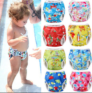 Adjustable Reusable Baby Summer Swim Diaper Swimming Trunks Waterproof Swimwear - shopbabyitems