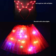 Load image into Gallery viewer, Adult Child Neon Party Led Clothes LED Light Star Tutu Skirt Ear Hairband Glow Angel Costume Birthday Gift Wedding Christmas - shopbabyitems