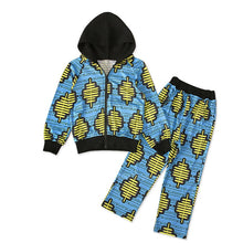 Load image into Gallery viewer, Dashiki Print Hodded Coat Pants Suit Autumn Full Sleeve African Dresses for Women Kids - shopbabyitems
