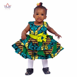 African Women Clothing kids dashiki Traditional Cotton Dresses Matching Africa Print Dresses - shopbabyitems