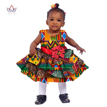 Load image into Gallery viewer, African Women Clothing kids dashiki Traditional Cotton Dresses Matching Africa Print Dresses - shopbabyitems