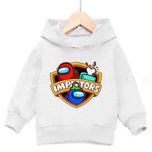 Among Us 3 To 14 Years Kids Hoodies Game Printed Hoodie Fashion Print Cotton Sweatshirt Boys Girls Pullover Children Clothing - shopbabyitems