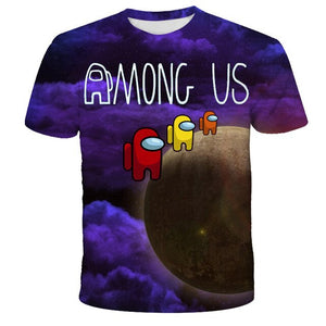 Among Us Cool 3D T Shirt Summer Fashionable Short Sleeve O-Neck Tee Tops Children Game Harajuku T-Shirts Kids Boys Clothing - shopbabyitems