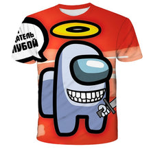 Load image into Gallery viewer, Among Us Cool 3D T Shirt Summer Fashionable Short Sleeve O-Neck Tee Tops Children Game Harajuku T-Shirts Kids Boys Clothing - shopbabyitems