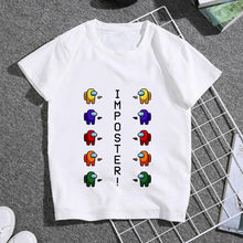 Load image into Gallery viewer, Among Us Video Games white cotton children T Shirt Harajuku Infant Short Sleeve T-shirt Summer Tshirt Clothes 2020 camiseta - shopbabyitems