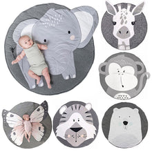 Load image into Gallery viewer, Baby Crawling Blanket Playmat Round Kids Carpet Floor Rug - shopbabyitems