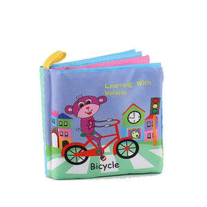 Animal Style Monkey/Owl/Dog Newborn Baby Toys Learning Educational Kids Cloth Books Cute Infant Baby Fabric Book - shopbabyitems