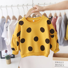 Load image into Gallery viewer, Autumn Winter Children Kids Baby Girls Hoodies Print Dot Sweatshirts L - shopbabyitems
