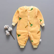 Load image into Gallery viewer, Dinosaur Print Baby Boy Romper Warm Infant Baby Boy Girl Soft Fleece Jumpsuit - shopbabyitems