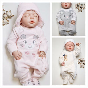 Autumn Winter Newborn Infant Baby Boy Rompers Long Sleeve Cotton Velvet Romper Kids - shopbabyitems