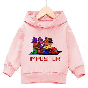 Autumn among us kids cashmere claw casual hoodie pro juvenile sweatshirt girl's top anime violent game print clothing 4T-14T - shopbabyitems