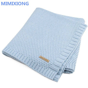 Baby Blanket Knitted Newborn Swaddle Wrap Blankets Super Soft Toddler Infant Bedding Quilt For Bed Sofa Basket Stroller Blankets - shopbabyitems