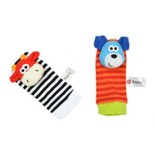 Load image into Gallery viewer, Baby Born Infant Soft Socks Wrist Rattle Set Best Newborn Gift Toys - shopbabyitems
