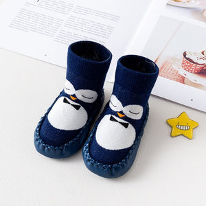 Baby Boy Girl Cartoon Cute Cartoon Penguin Shoe Toddler Shoes Socks Shoe Winter - shopbabyitems