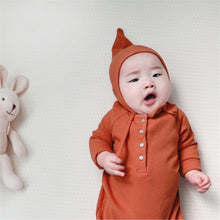 Load image into Gallery viewer, Baby Boy Romper Clothes 0-24M Newborn Girl Rompers Cotton Long Sleeve Jumpsuit Outfit Clothes Hat - shopbabyitems
