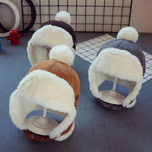 Load image into Gallery viewer, Baby Boys Girls Hat Kids Children Ear Flap Muff Winter Warm Plush Cotton Cap Outdoor Lei Feng Cap Beanie Gifts Hat 2-3 Years - shopbabyitems