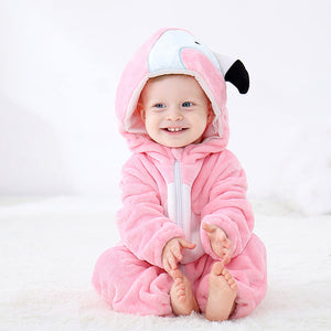 Baby Cartoon Romper Newborn Hooded Inflant Clothing Boy Girl Pajamas Animal Onesie Jumpsuit - shopbabyitems