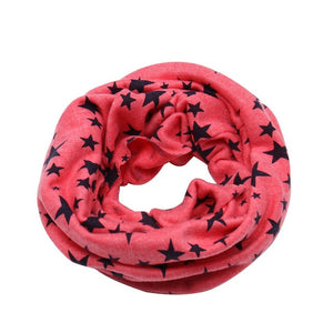 Baby Cotton Neck Scarf Cute Print Children Warm Scarf Kids Collars Autumn Winter Boys Girls O Ring Scarf Baby Cloth Accessories - shopbabyitems